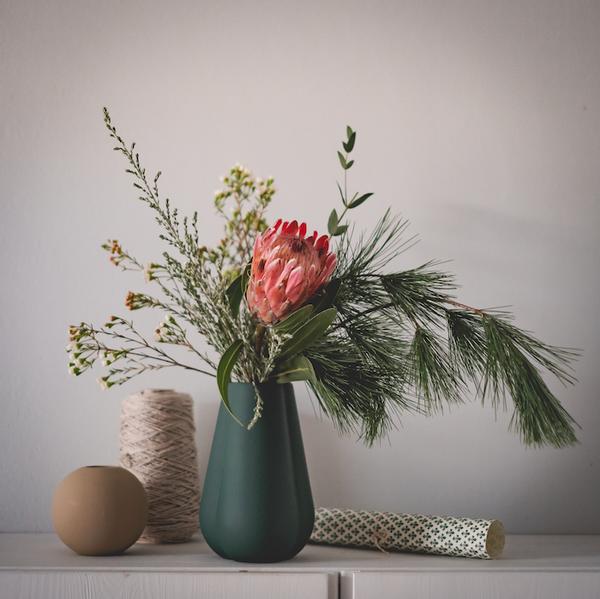 Bilde av Clover Vase -Mørk grønn