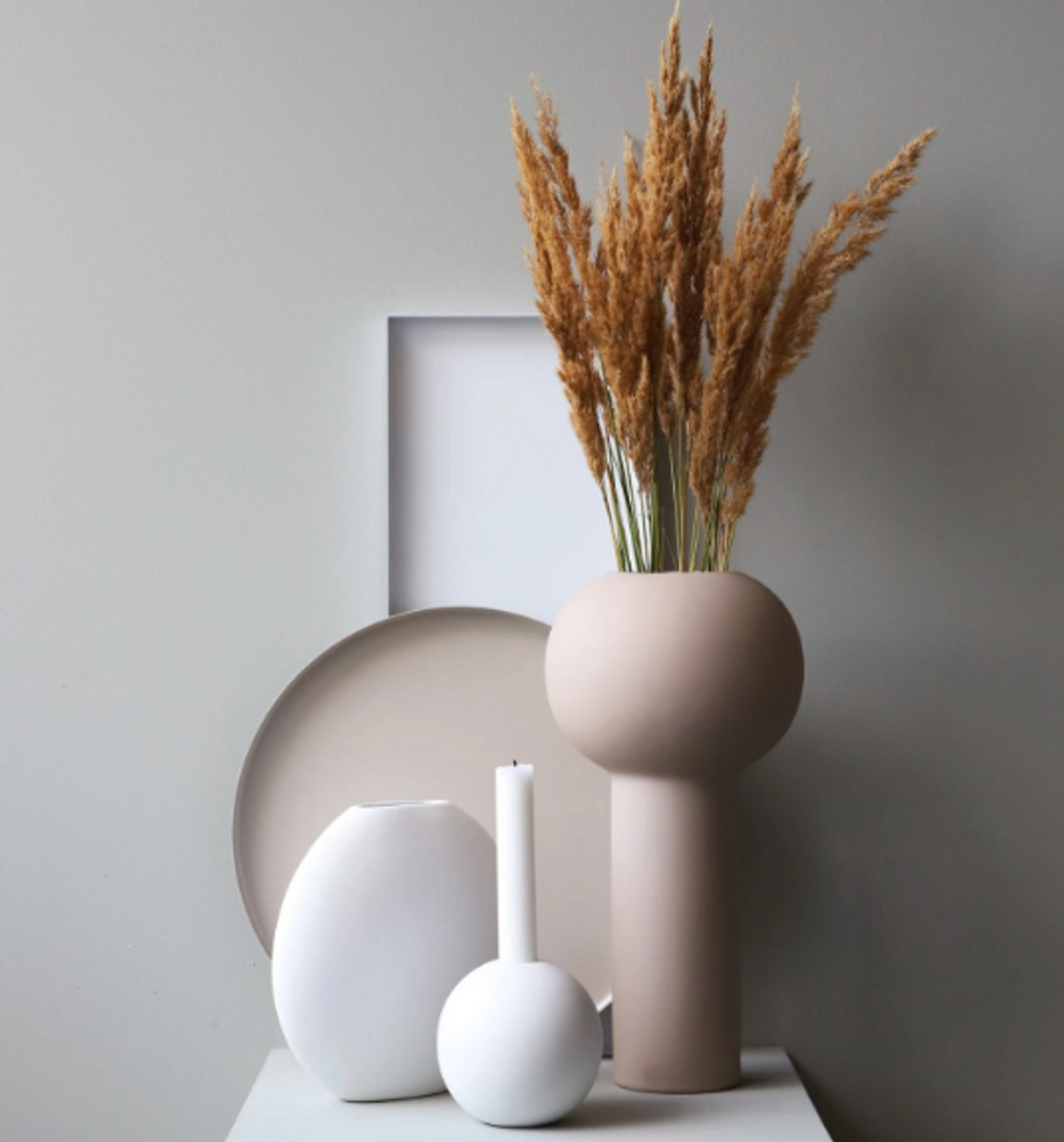 Pillar Vase 32 cm - Sand